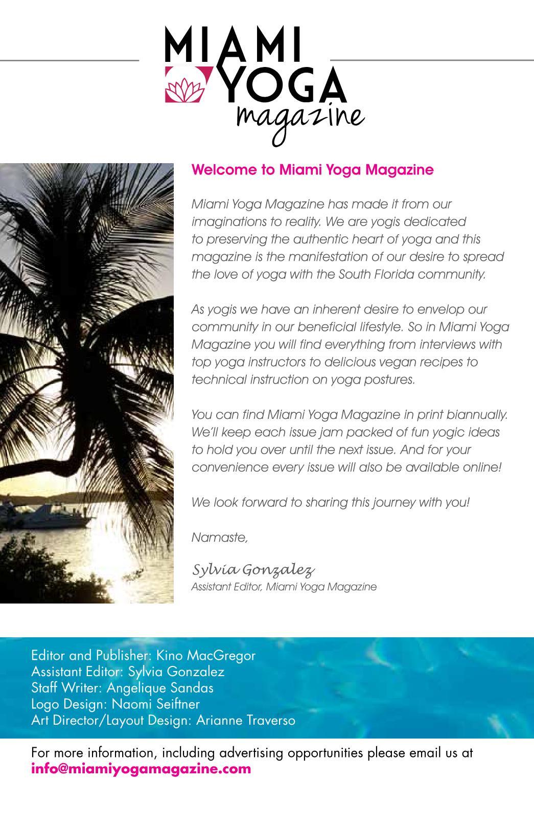 Miami Yoga Magazine